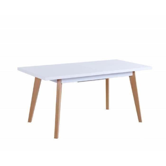 SACHA Table à manger extensible 4 à 6 personnes 160 190x80