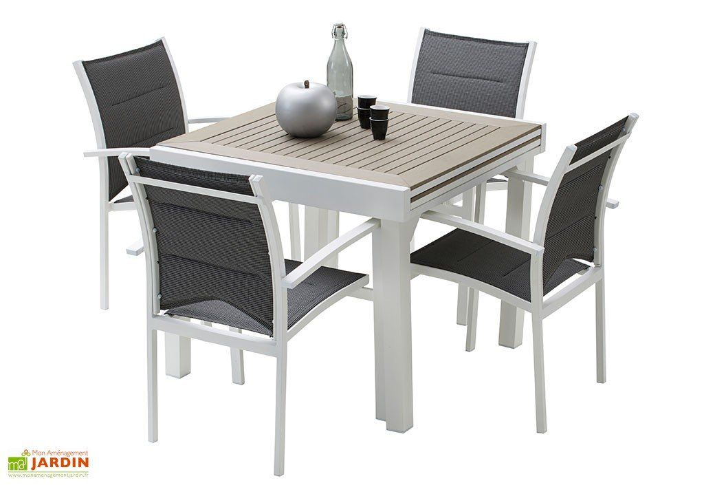 Salon de Jardin Modulo Table Extensible en Polywood 4
