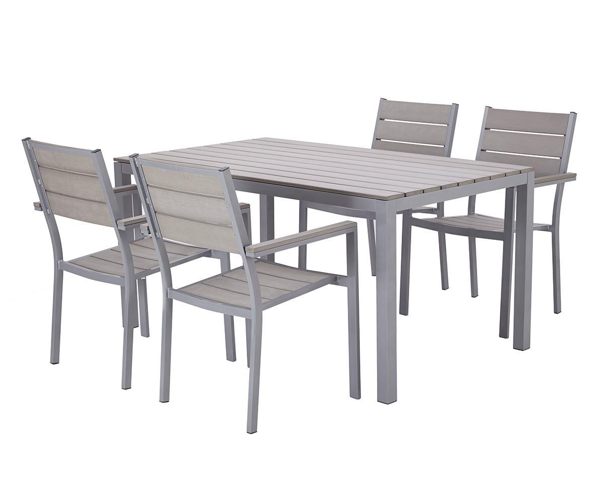 table de jardin aluminium 4 personnes
