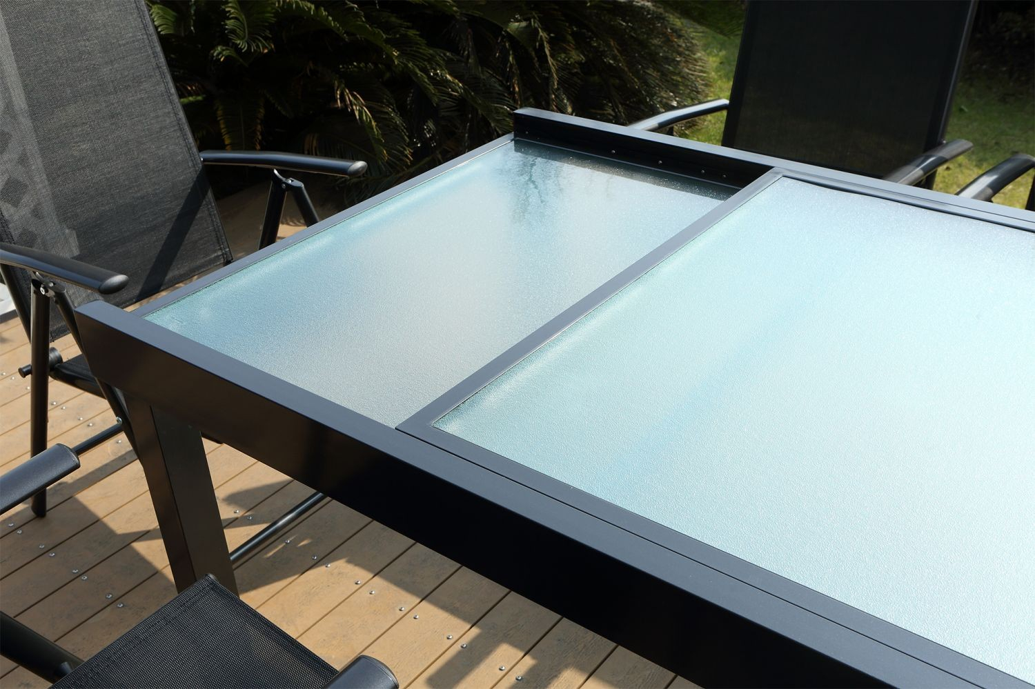 Table de jardin extensible en aluminium 12 places 10