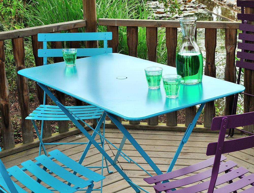 Table Exterieur 4 Personnes Table Pliante Bistro 97 X 57 Cm 4 Personnes Trou