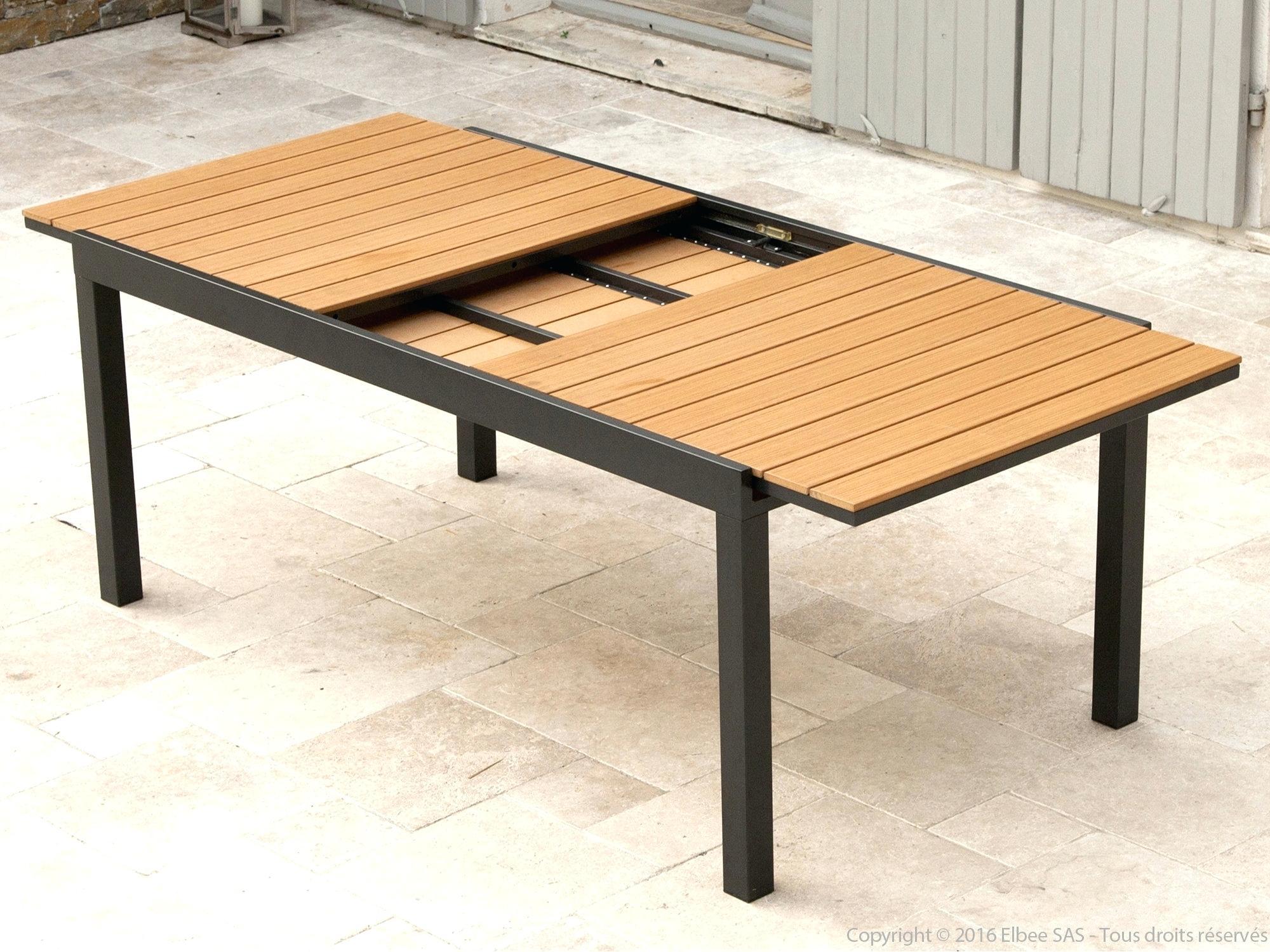 Table Bois Metal Exterieur table exterieur resine table de jardin bois et metal - idees