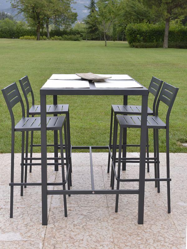 RIG72TH pour Bars et Restaurants Table d extérieur haute