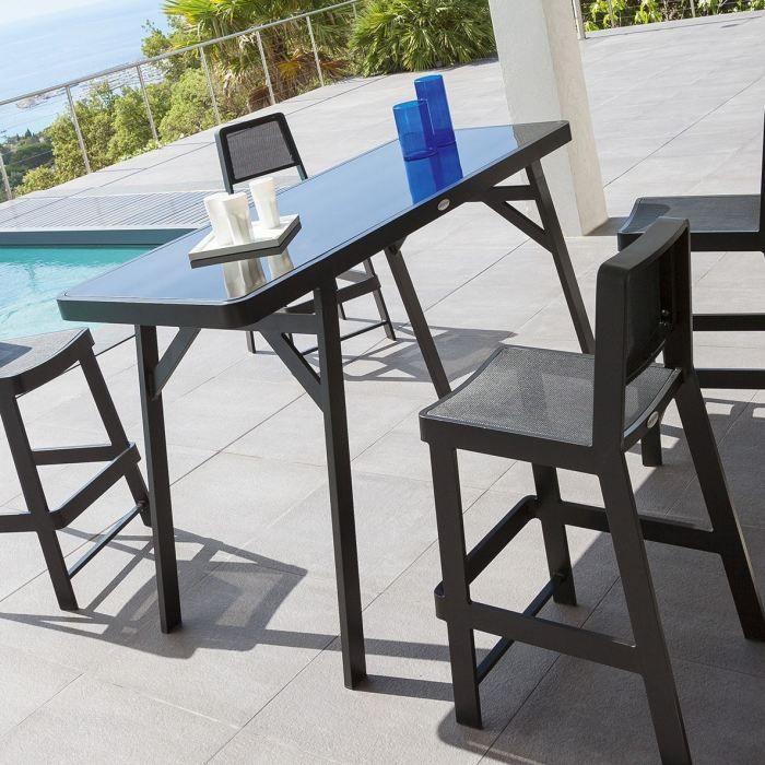 table haute bertioga noire Achat Vente table de jardin