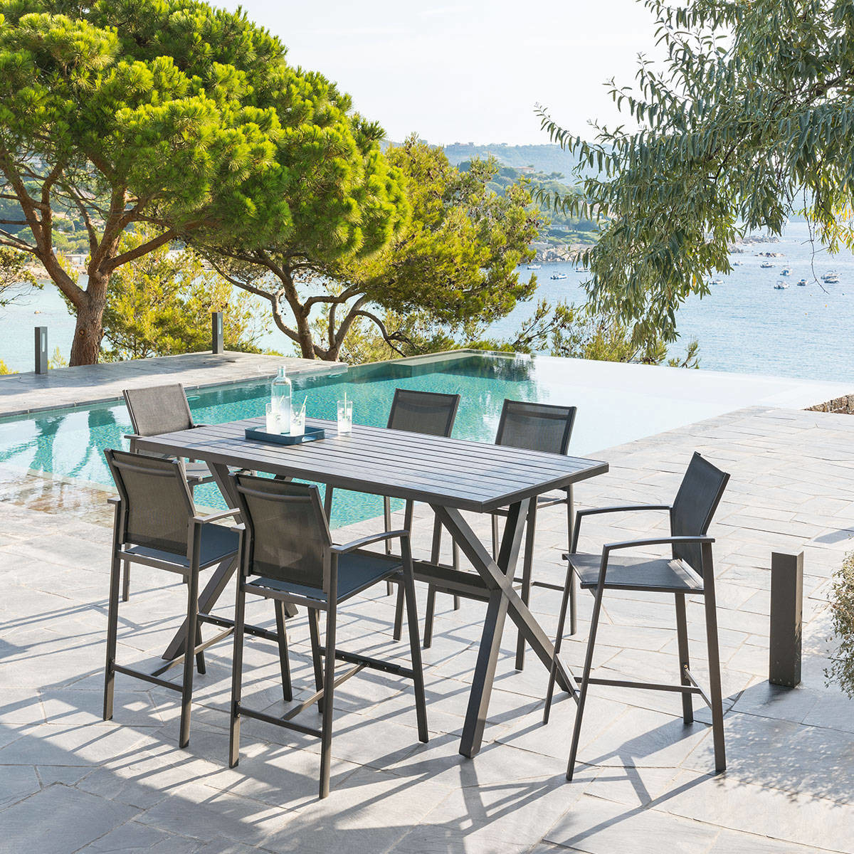 Table haute de jardin Axiome Hespéride 6 places