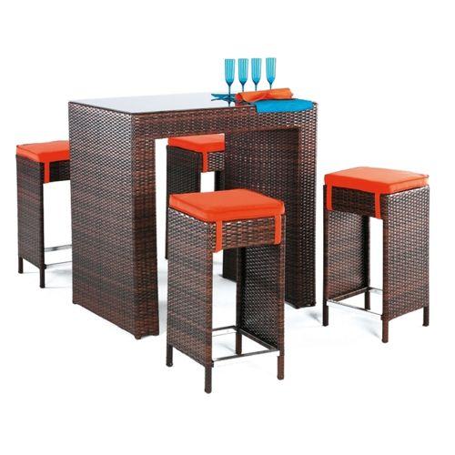 table haute en résine tressée salon canape fauteuil