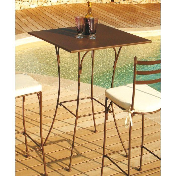 Table haute mange debout en fer forgé Stella Achat