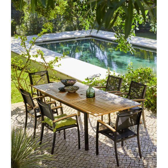 CARREFOUR Table de jardin extensible Louga pas cher