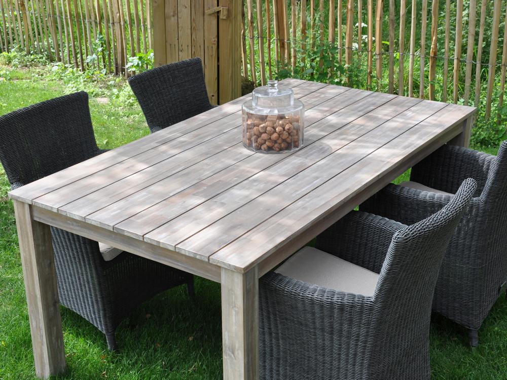 Table bois jardin Mc immo