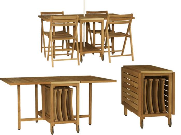 Table bois pliante exterieur salon de jardin en teck pas