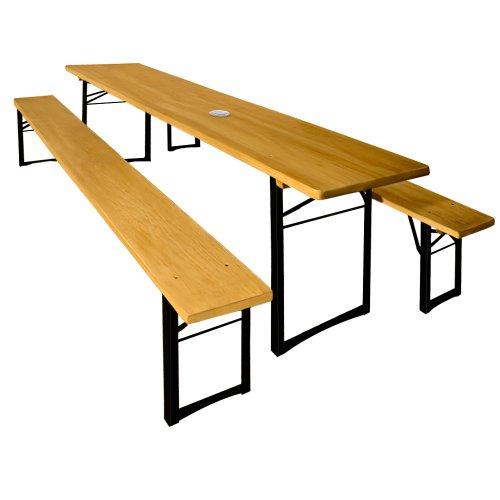 Table et bancs jardin pliants en Bois Ensemble meuble