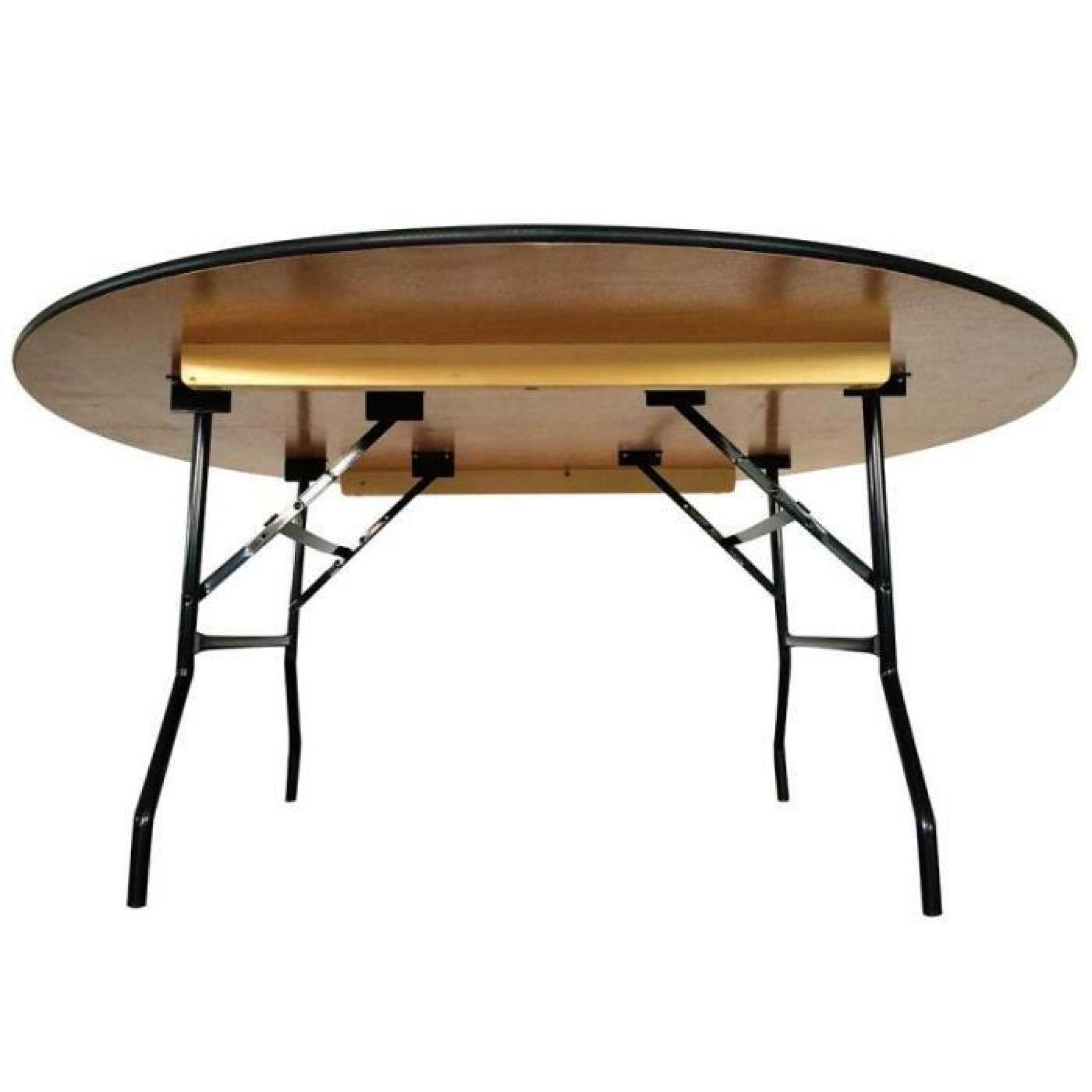 Table pliante ronde en bois 170 cm jardin Achat Vente
