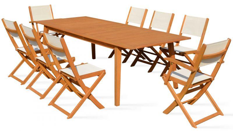 Table Jardin Bois Salon De Jardin 8 Places En Bois Table Et Chaise