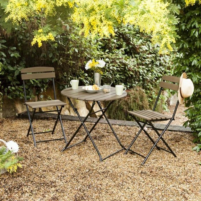Table Jardin Carrée Conception   Idees Conception Jardin