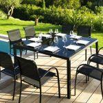 table jardin carra c e table de jardin