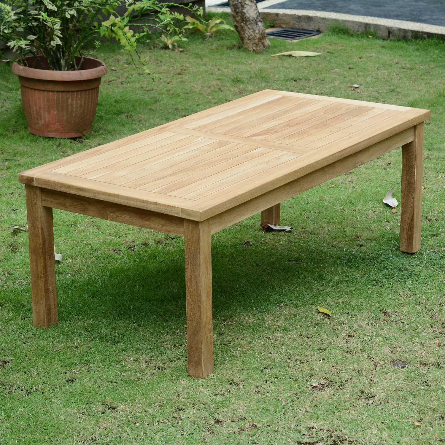 Table basse rectangulaire en teck Ecograde© Coffee 120 x 60 cm