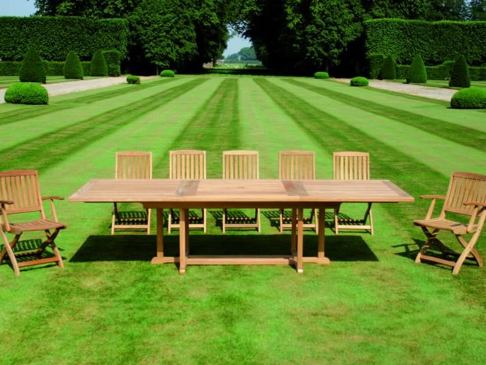 Mobilier de jardin design Tectona Table de jardin avec