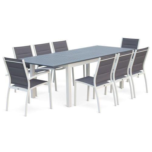Table de jardin à rallonge extensible 2 fauteuils 6