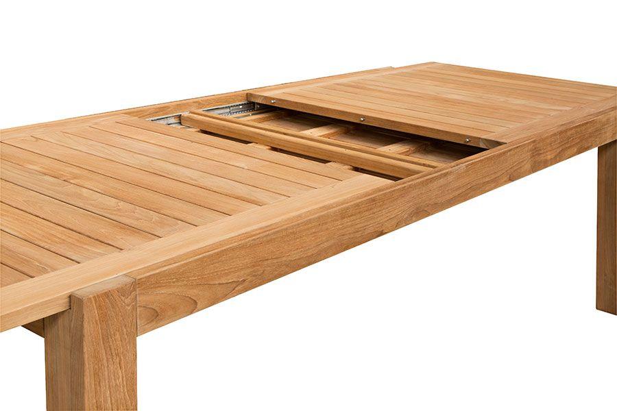 Table de jardin de grande taille en teck massif 220 340 cm