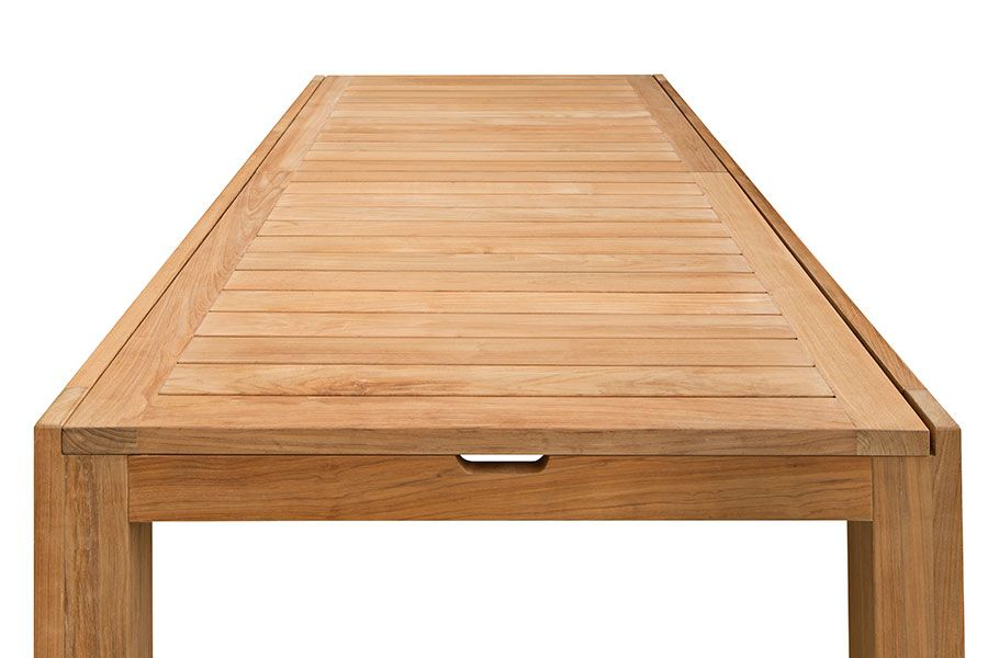 Table de jardin de grande taille en teck massif avec