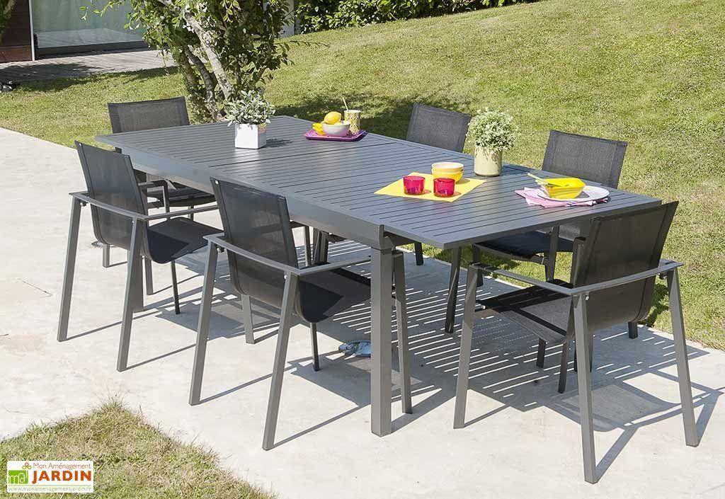 Table de Jardin Miami avec Rallonge 240 300x110cm DCB