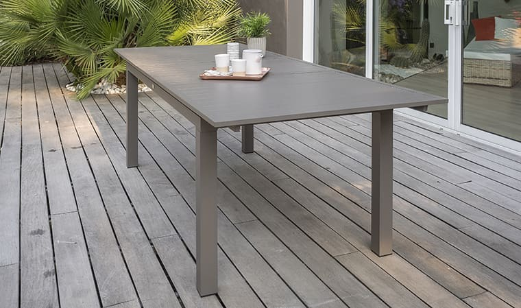 Table de jardin rallonge automatique 240 300 cm Zahara