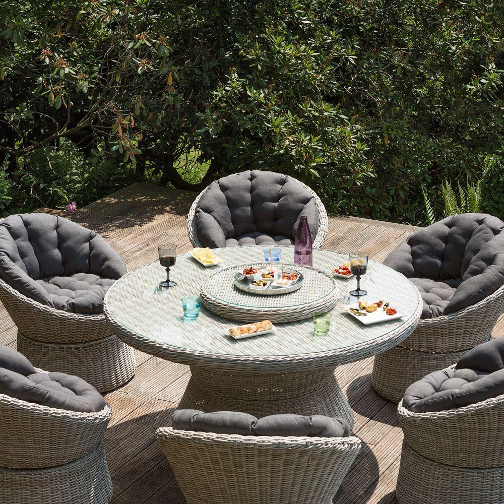 Salon de jardin résine Kettler Barcelona 6 fauteuils 1