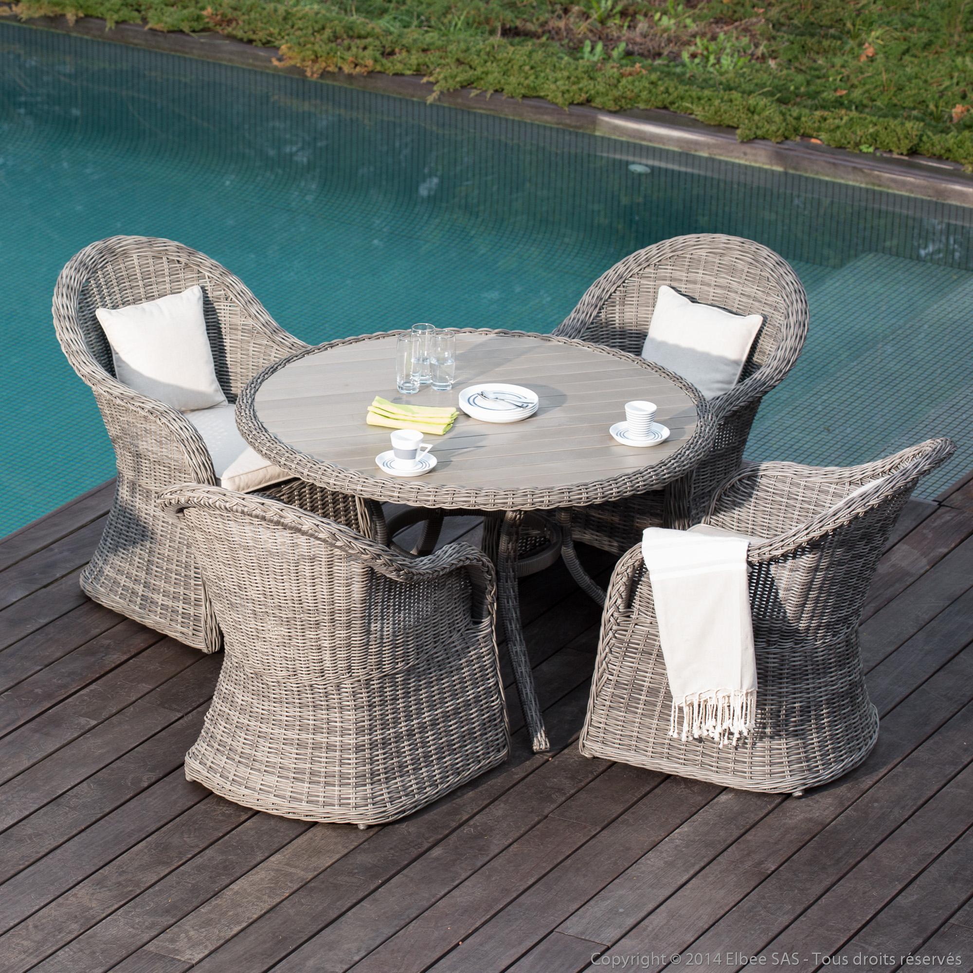Table De Jardin Ronde Resine Stunning Salon Tressee