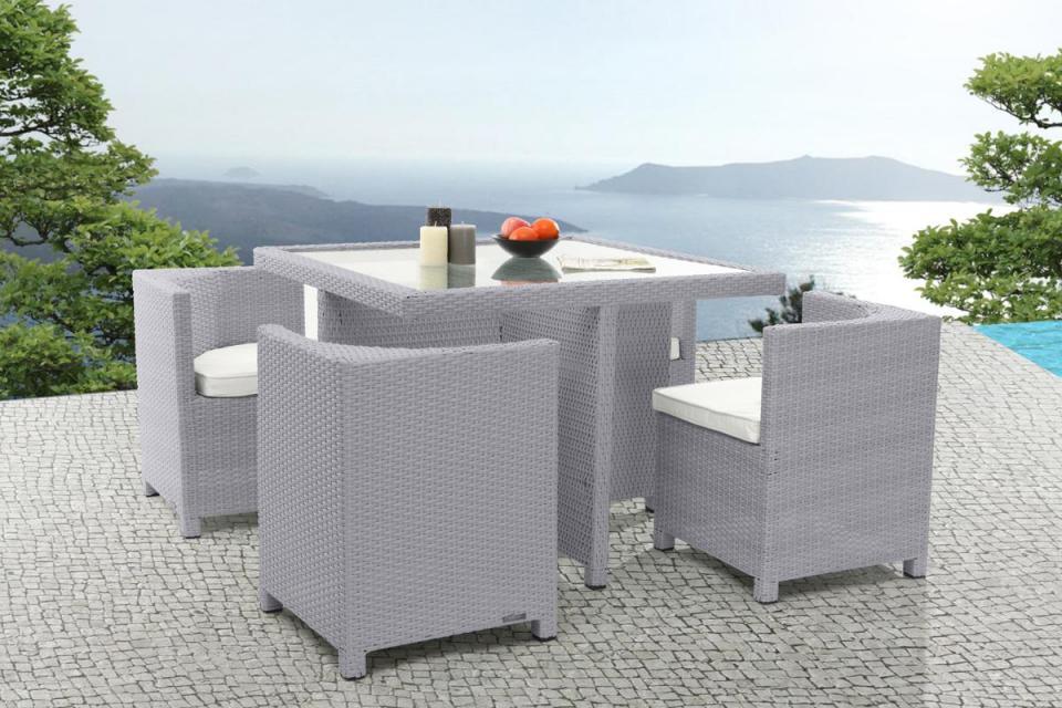 Table Et Chaise De Jardin En Resine Tressee Miliboo