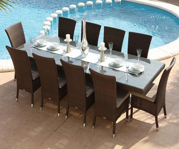 Table et chaise de jardin en resine Wikilia