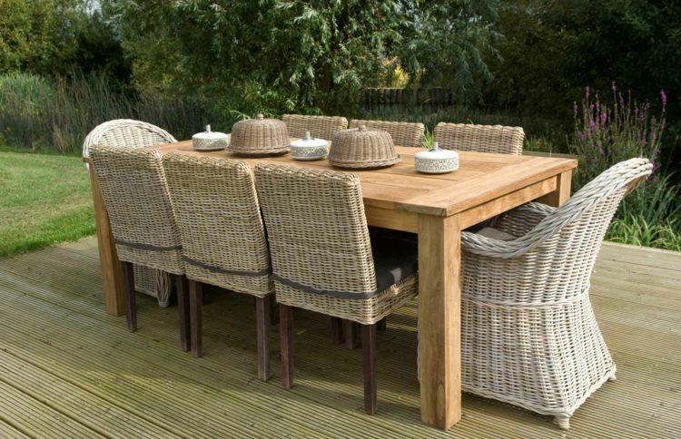 Salon de jardin en teck tout type de meubles en 20 photos