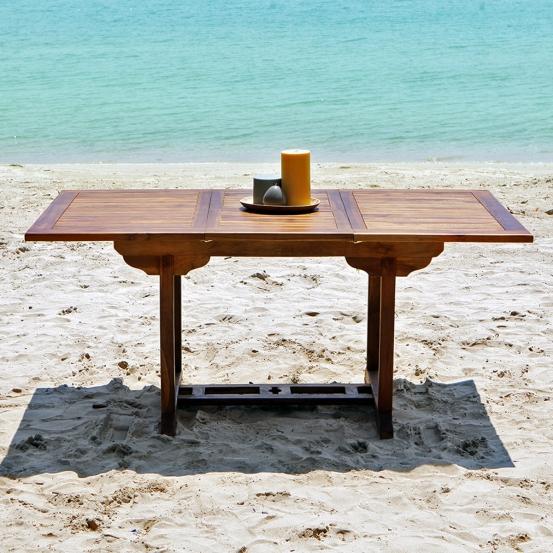 Table de jardin en bois de teck huilé BALI 6 8 places