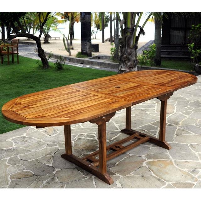 Table de jardin en teck pour 10 personnes table ovale