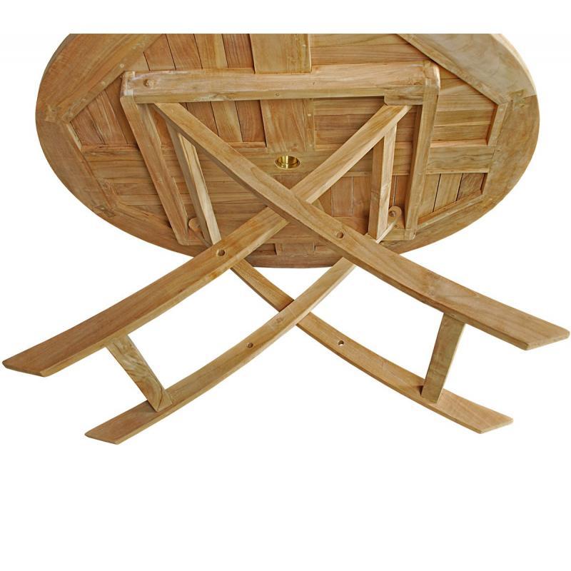 Table Jardin Teck Table De Jardin Plainte En Teck Brut Table Ronde En Teck