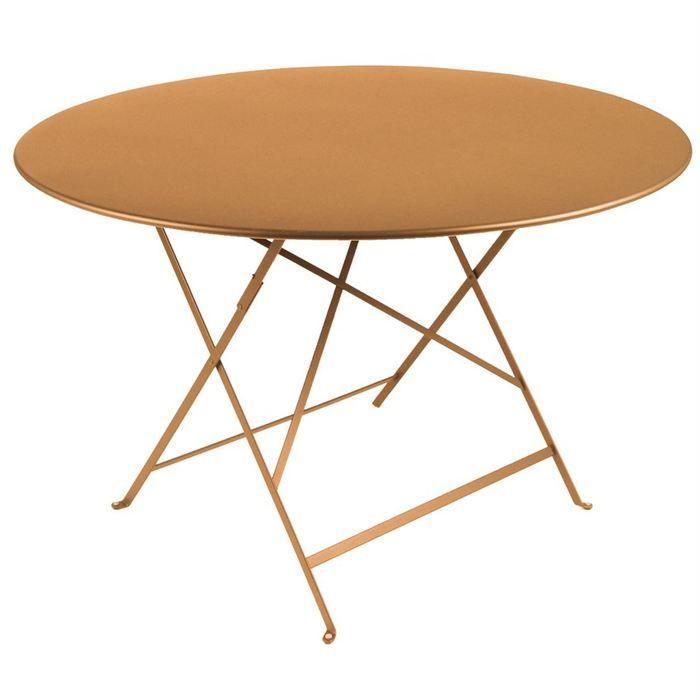 Table Ronde Jardin Table De Jardin Pliante Metal Ronde 90cm Achat Vente