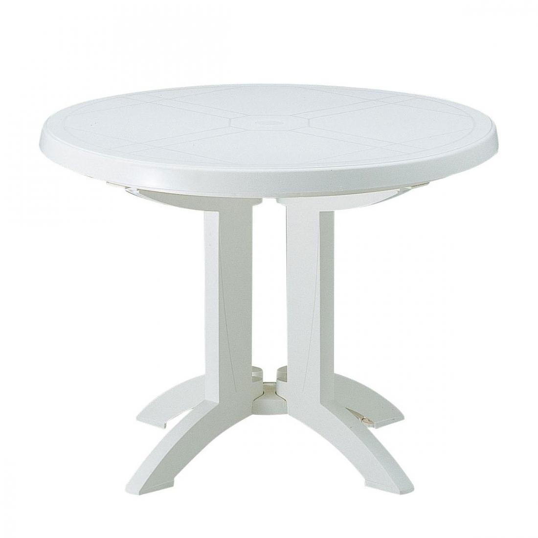 Table Ronde Jardin Table Ronde De Jardin Vega Grosfillex Idees