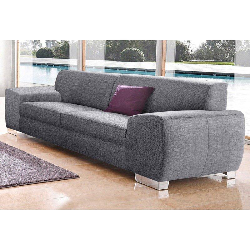 Canapé 3 places en tissu effet tweed Gris autres