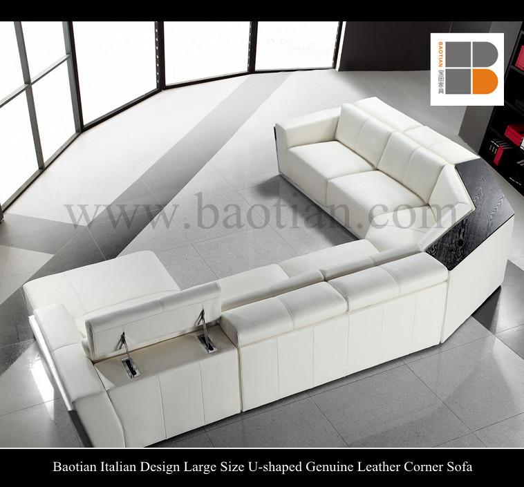 Baotian Design Italien Grande Taille En Forme De U En Cuir