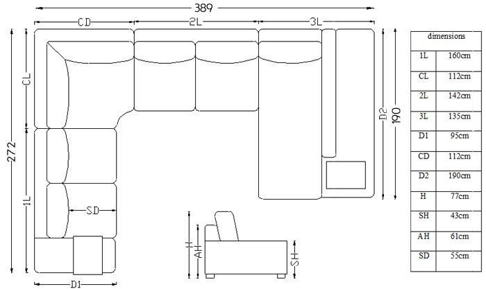Canapé d angle panoramique en cuir Fritsch Mobilier Moss