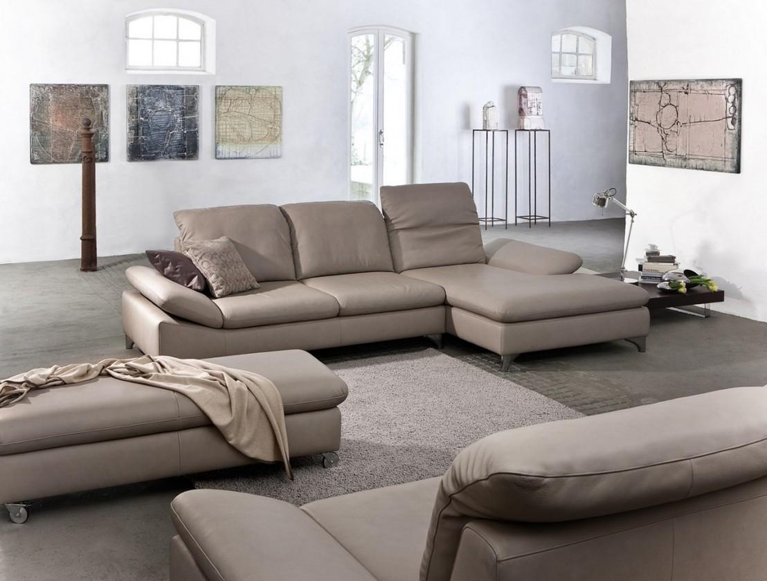 Canapé d'angle 4 places GENTflex avec Longchair réglable