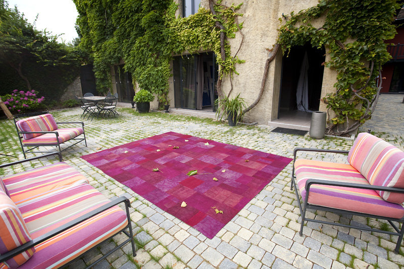 Tapis rose de terrasse photo 1 10 Un tapis rose sur
