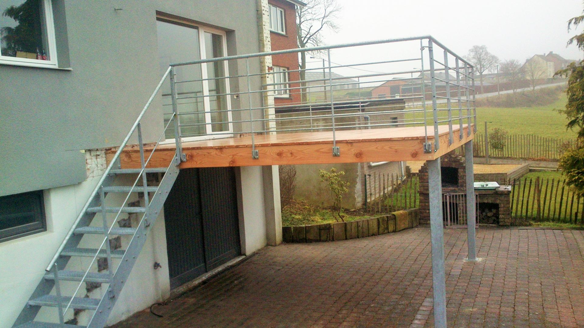 Terrasse Surélevée En Acier terrasse bois en kit terrasse pilotis acier prix nos