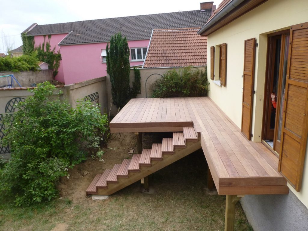 s de terrasse en bois sur pilotis veranda styledevie