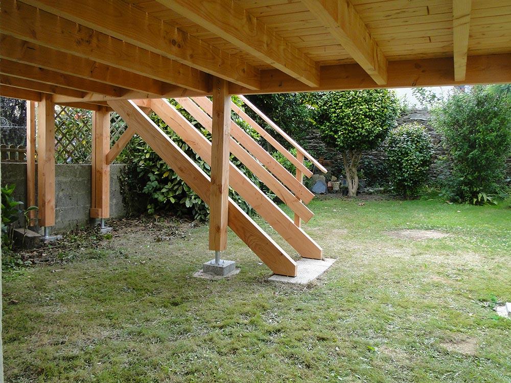 Terrasse bois sur pilotis à Brest Maisons bois Acacia