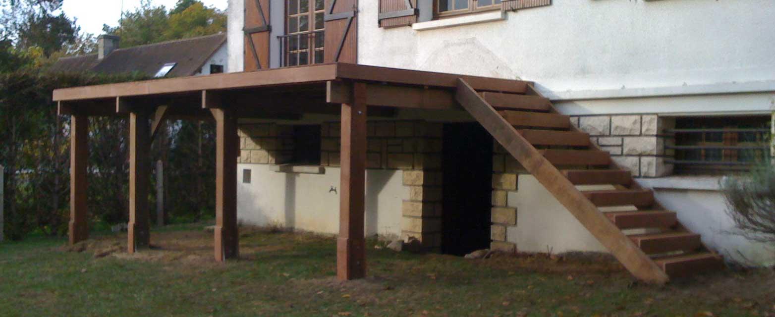 Terrasse bois sur pilotis kit veranda styledevie
