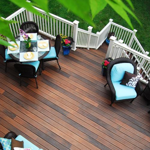 paratif terrasse terrasse en bois pierre béton et