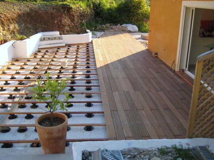 Terrasse bois et carrelage veranda styledevie