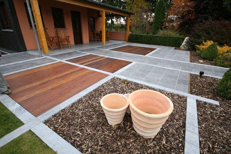 travaux terrasse bois posite et pierre bleue