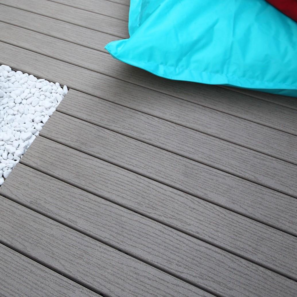 Lame terrasse posite Fiberon CLASSIC gris 20x127x3050 mm