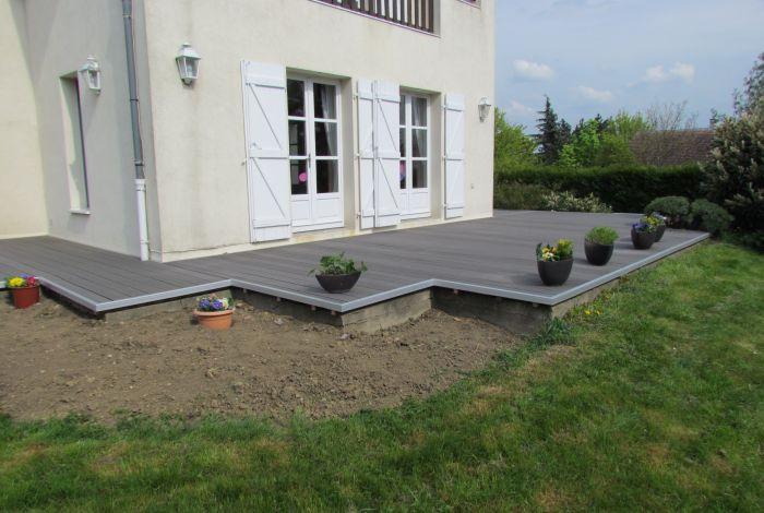plancher terrasse en bois posite gris Mille & Un Sols